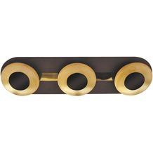 Rabalux Brigitte LED Deckenleuchte 3x5W braun/ gold