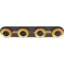 Rabalux Brigitte LED Deckenleuchte 4x5W braun/ gold, länglich
