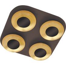 Rabalux Brigitte LED Deckenleuchte 4x5W braun/ gold, quadratisch