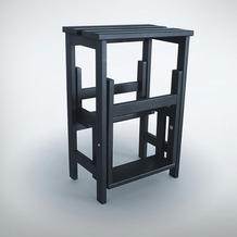 Radius Cologne design RADIUS Hockerleiter, schwarz
