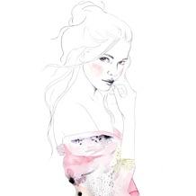 Rasch Digitaldrucktapete Young Artists Wandbild 100570 rosa, lila, weiß