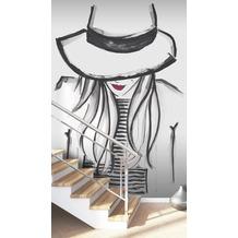 Rasch Digitaldrucktapete Young Artists Wandbild 100877 schwarz, weiß