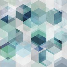 Rasch Digitaldrucktapete Young Artists Wandbild 100921 grün, blau, grau