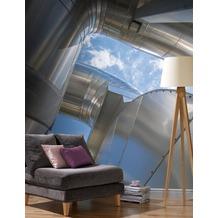 Rasch Digitaldrucktapete Young Artists Wandbild 101195 grau, blau