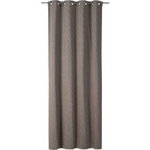 rasch home Gardine mit Ösen Alhambra taupe-kupfer 140 x 255 cm
