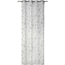 rasch home Gardine mit Ösen Toile weiß-grau 140 x 255 cm