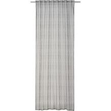 rasch home Gardine mit Schlaufenband Charisma grau 140 x 255 cm