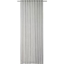rasch home Gardine mit Schlaufenband Crincle grau 140 x 255 cm