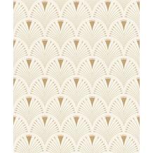 Rasch Tapete Art Nouveau 433227 Creme, Rosa, Gold 0.53 x 10.05 m