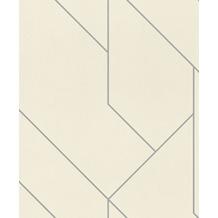 Rasch Tapete Brick Lane 427424 Grau, Weiß 0.53 x 10.05 m