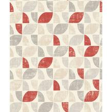 Rasch Tapete Das Beste (2021) 519822 Rot, Beige, Grau 0.53 x 10.05 m