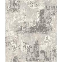 Rasch Tapete Kids & Teens III 821208 Weiß, Grau 0.53 x 10.05 m