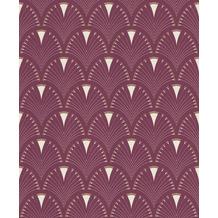Rasch Tapete Modern Art 433241 Rot, Creme 0.53 x 10.05 m