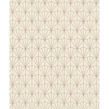 Rasch Tapete Modern Art 434040 Creme, Rosa, Beige 0.53 x 10.05 m