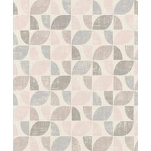 Rasch Tapete Modern Art 519815 Rosa, Grau, Creme 0.53 x 10.05 m