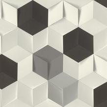 Rasch Tapete Modern Art 622324 Grau, Weiß, Silber, Schwarz 0.53 x 10.05 m
