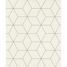 Rasch Tapete Modern Art 624304 Weiß, Grau 0.53 x 10.05 m