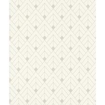 Rasch Tapete Selection 403329 Weiß, Silber 0.53 x 10.05 m