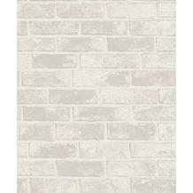 Rasch Tapete Selection Relief/Vlies 408003 Grau, Weiß 0.53 x 10.05 m