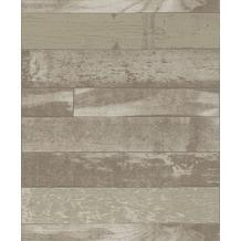 Rasch Tapete Selection Relief/Vlies 488722 Beige, Braun 0.53 x 10.05 m