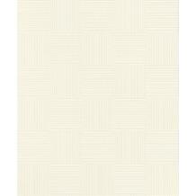 Rasch Tapete Selection Relief/Vlies 533408 Weiß 0.53 x 10.05 m