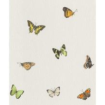 Rasch Tapete Selection Relief/Vlies 633047 Weiß, Grün, Orange, Gelb 0.53 x 10.05 m
