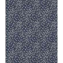 Rasch Tapete Selection Relief/Vlies 755749 Silber, Blau 0.53 x 10.05 m