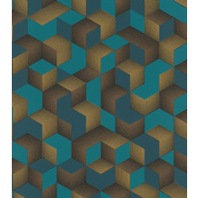Rasch Tapete Selection Vinyl/Vlies 403909 Gold, Schwarz, Blau 0.53 x 10.05 m