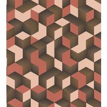Rasch Tapete Selection Vinyl/Vlies 403916 Rosa, Orange, Gold 0.53 x 10.05 m