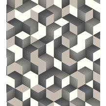 Rasch Tapete Selection Vinyl/Vlies 403923 Grau, Weiß, Silber, Schwarz 0.53 x 10.05 m