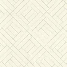 Rasch Tapete Selection Vinyl/Vlies 404142 Silber, Creme 0.53 x 10.05 m