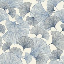 Rasch Tapete Selection Vinyl/Vlies 407655 Blau, Weiß 0.53 x 10.05 m