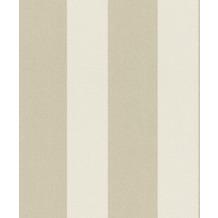 Rasch Tapete #Tapetenwechsel Streifen 633450 weiß-beige