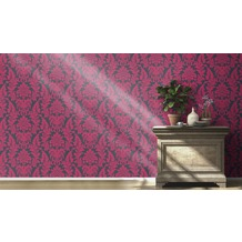 Rasch Tapete Vanity Fair II Motiv 525441 pink dunkelblau