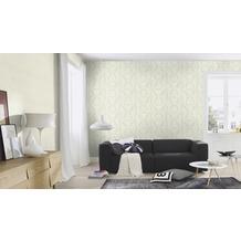 Rasch Tapete Vanity Fair II Uni 525106 creme glänzend