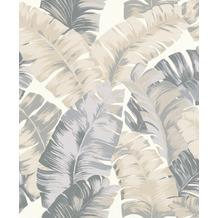 Rasch Tapete Yucatán 535617 Grau, Creme, Weiß 0.53 x 10.05 m