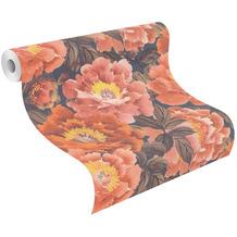Rasch Vinyltapete Muster & Motive 408348 Kimono Orange-peach 0.53 x 10.05 m