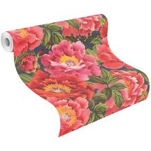 Rasch Vinyltapete Muster & Motive 408355 Kimono Rot-Korallenrot 0.53 x 10.05 m