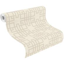 Rasch Vinyltapete Muster & Motive 409239 Kimono Weiß-Cremeweiß 0.53 x 10.05 m