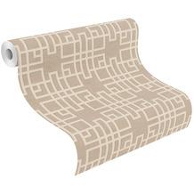 Rasch Vinyltapete Muster & Motive 409246 Kimono Beige-greige 0.53 x 10.05 m