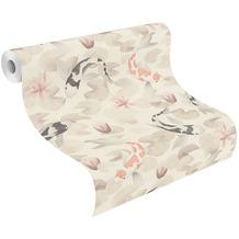Rasch Vinyltapete Muster & Motive 409420 Kimono Beige-Leinen hell 0.53 x 10.05 m
