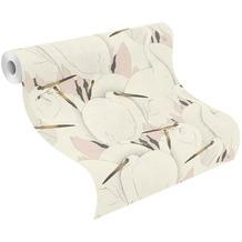 Rasch Vinyltapete Muster & Motive 409536 Kimono Rosa-Hellrosa 0.53 x 10.05 m