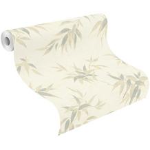 Rasch Vinyltapete Muster & Motive 409741 Kimono Weiß-cremeweiß 0.53 x 10.05 m