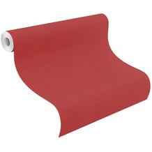 Rasch Vinyltapete Uni 408195 Kimono Rot-Ziegelrot 0.53 x 10.05 m