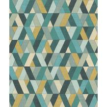 Rasch Vlies Tapete Muster & Motive 536744 Barbara Home Collection II Blau-petrol 0.53 x 10.05 m