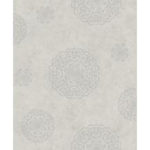 Rasch Vlies Tapete Muster & Motive 540543 Rock´n Rolle Grau 0.53 x 10.05 m