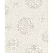 Rasch Vlies Tapete Muster & Motive 540550 Rock´n Rolle Weiß 0.53 x 10.05 m