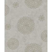 Rasch Vlies Tapete Muster & Motive 540567 Rock´n Rolle Grau 0.53 x 10.05 m