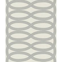 Rasch Vlies Tapete Muster & Motive 541724 Glam Silber-silber schimmer 0.53 x 10.05 m