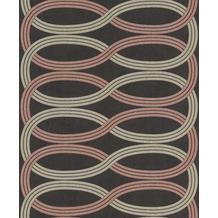 Rasch Vlies Tapete Muster & Motive 541755 Glam Schwarz-Anthrazit 0.53 x 10.05 m